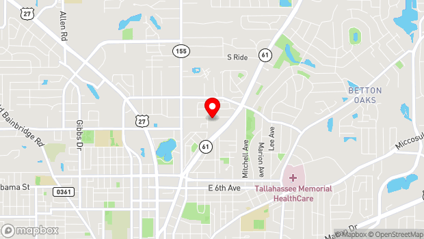 Google Map of Young Actors Theatre, Tallahassee, FL 32303