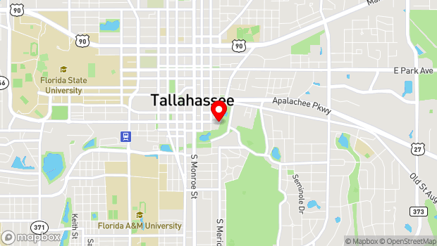 Google Map of 1001 South Gadsden Street, Tallahassee, FL 32301