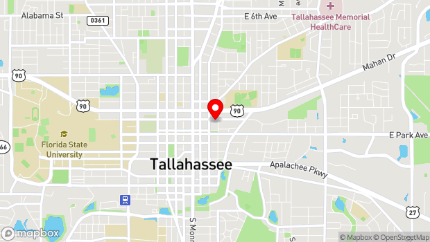 Google Map of 417 E Call Street, Tallahassee, FL 32301