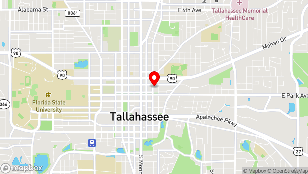 Google Map of 125 N. Gadsden St, Tallahassee, FL 32301