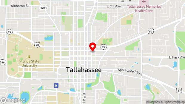 Google Map of 125 N. Gadsden St, Tallahassee, FL 32301