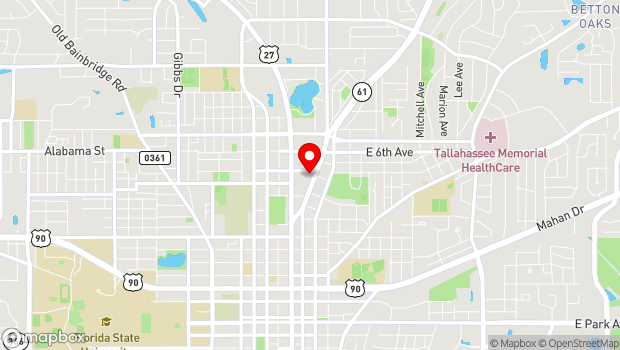 Google Map of 1122 Thomasville Road, Tallahassee, FL 32303
