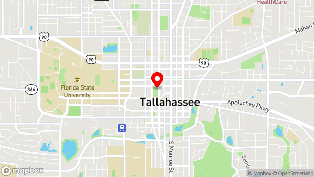 Google Map of 200 S. Duval St, Tallahassee, FL 32301
