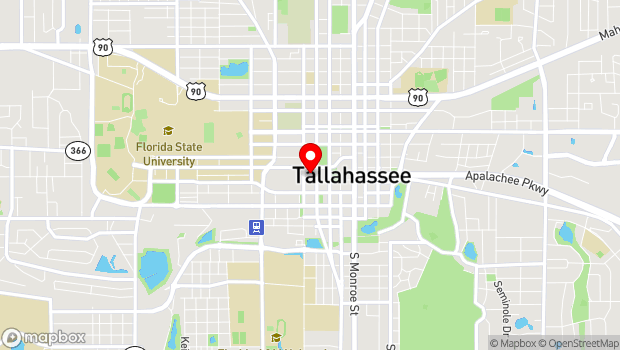 Google Map of 500 S Bronough St, Tallahassee, FL 32399