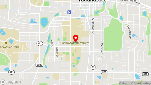 Google Map of Florida Agricultural and Mechanical University, Tallahassee, FL 32307