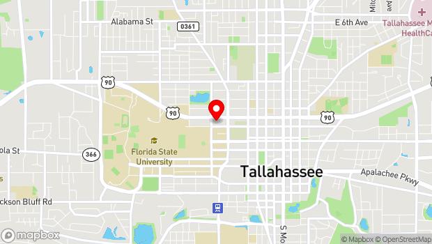 Google Map of 530 W Call St, Tallahassee, FL 32306