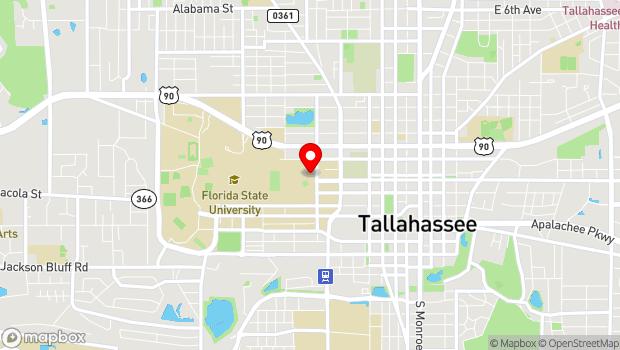 Google Map of 114 N Copeland St., Tallahassee, FL 32304