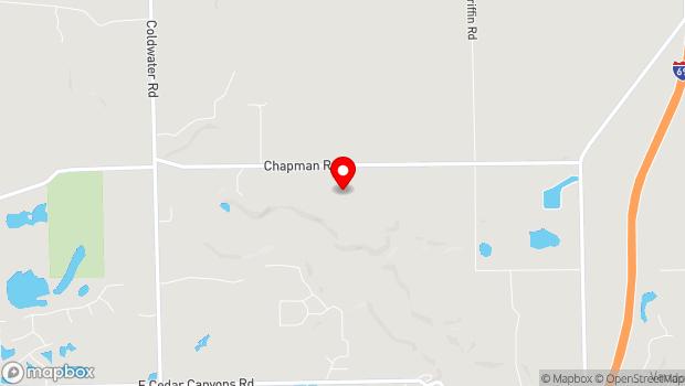 Google Map of 1802 Chapman Road, Fort Wayne, IN 46801