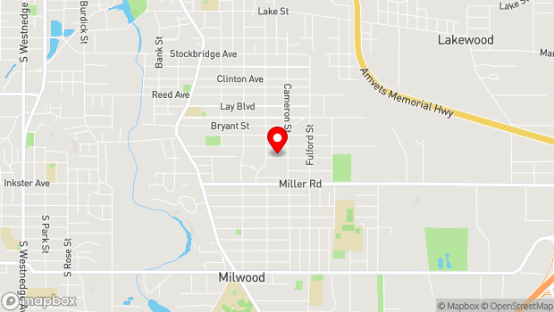 Google Map of 1501 Fulton Street, Kalamazoo, MI 49001