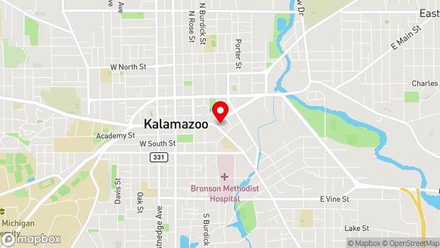 Google Map of Bates Alley, Kalamazoo, MI 49007