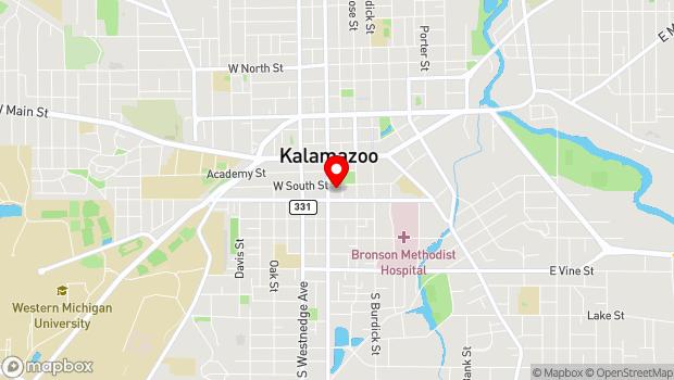 Google Map of 321 W. South St., Kalamazoo, MI 49007