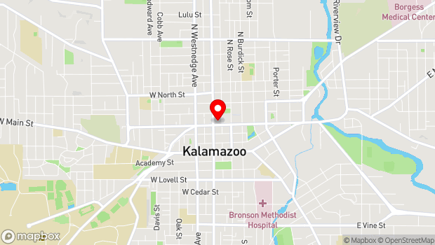 Google Map of 326 W. Kalamazoo Ave., Kalamazoo, MI 49007