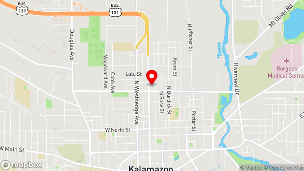 Google Map of Kalamazoo, MI 49007
