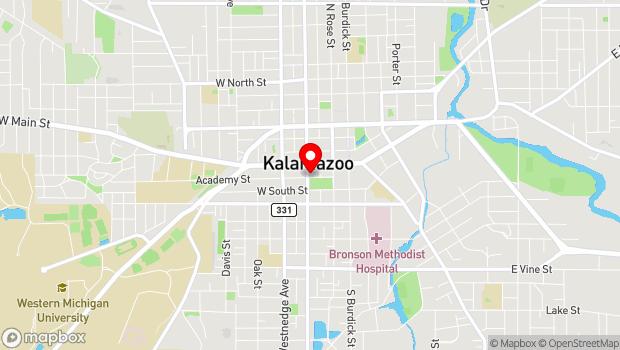Google Map of 345 West Michigan Avenue, Kalamazoo, MI 49007
