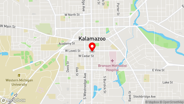 Google Map of 426 S. Park St., Kalamazoo, MI 49007