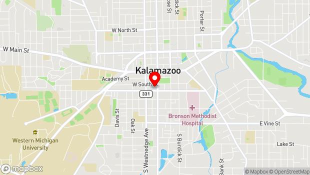 Google Map of 314 S. Park Street, Kalamazoo, MI 49007
