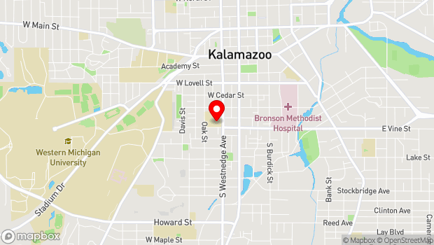 Google Map of 714 S. Westnedge Avenue, Kalamazoo, MI 49007