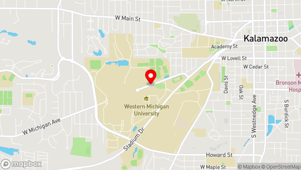 Google Map of 1921 W. Michigan Ave., Kalamazoo, MI 49008