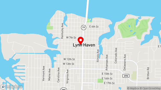 Google Map of 831 Florida Ave, Lynn Haven, FL 32444