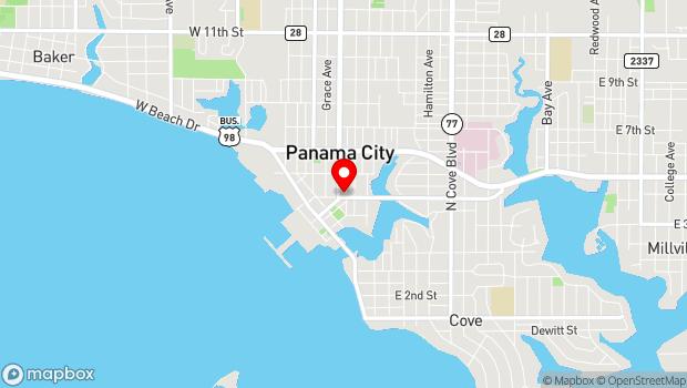 Google Map of 19 E 4th St, Panama City, FL 32401