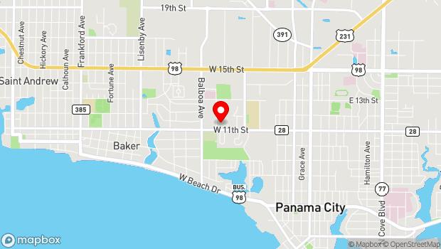 Google Map of 898 W 11th St, Panama City, FL 32401