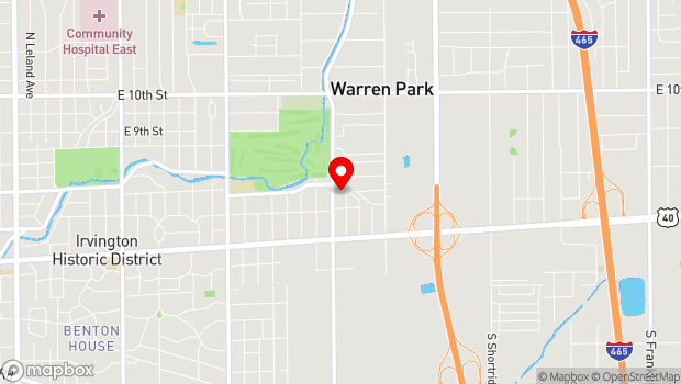 Google Map of 345 N. Kitley Ave., Indianapolis, IN 46229