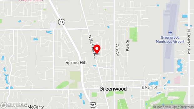 Google Map of 525 N. Madison Ave., Greenwood, IN 46142