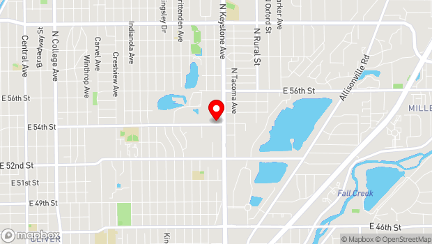 Google Map of 2376 East 54th Street, Indianapolis, IN 46220