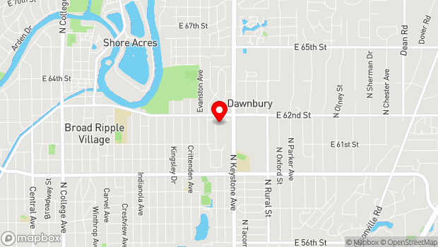 Google Map of 6161 N Hillside Ave, Indianapolis, IN 46220, Indianapolis, IN 46220