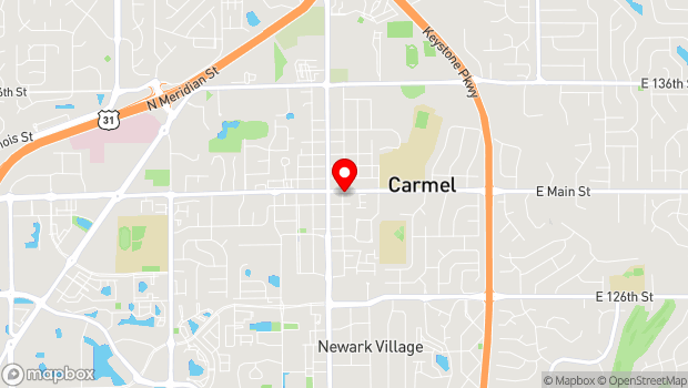 Google Map of 111 E. Main St., Carmel, IN 46032