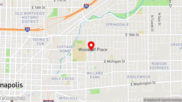 Google Map of 700 Middle Drive, Woodruff Place, Indianapolis, IN 46201