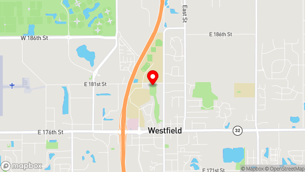 Google Map of 205 W Hoover St, Westfield, IN 46074