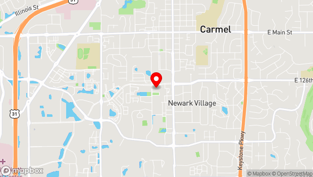 Google Map of 1 Center Green, Carmel, IN 46032