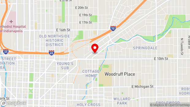 Google Map of 1125 Brookside Ave. Ste B21, Indianapolis, IN 46202