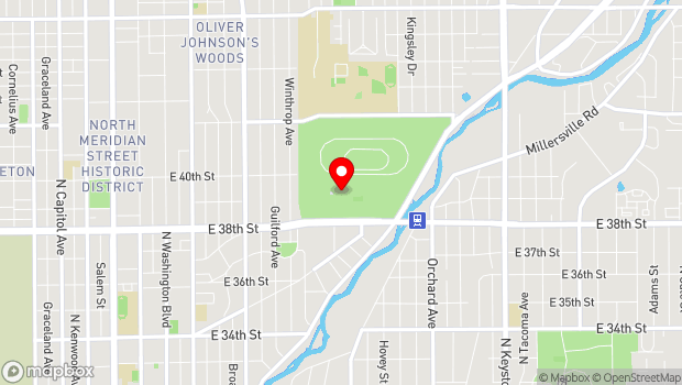 Google Map of 1202 E. 38th Street, Indianapolis, IN 46205