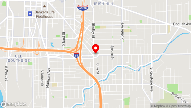 Google Map of 1116 Prospect Street, Indianapolis, IN 46203
