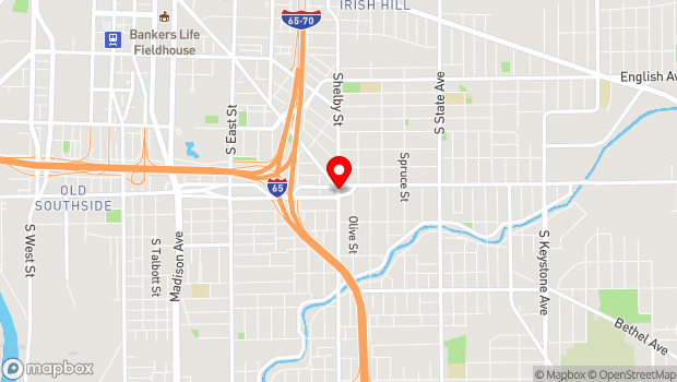 Google Map of 1104 Shelby Street & Virginia Avenue, Indianapolis, IN 46203