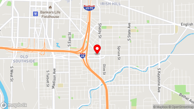 Google Map of 1043 Virginia Ave., Suite 215, Indianapolis, IN 46203