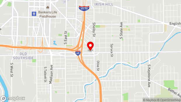 Google Map of 1043 Virginia Ave. Ste. 206, Indianapolis, IN 46203