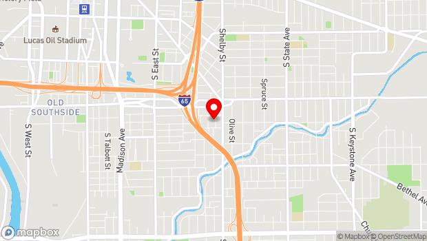 Google Map of 1035 Sanders Street, Indianapolis, IN 46203