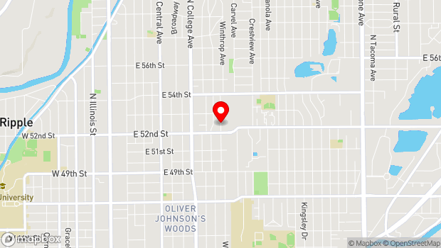 Google Map of 5225 N. Winthrop, Indianapolis, IN 46220