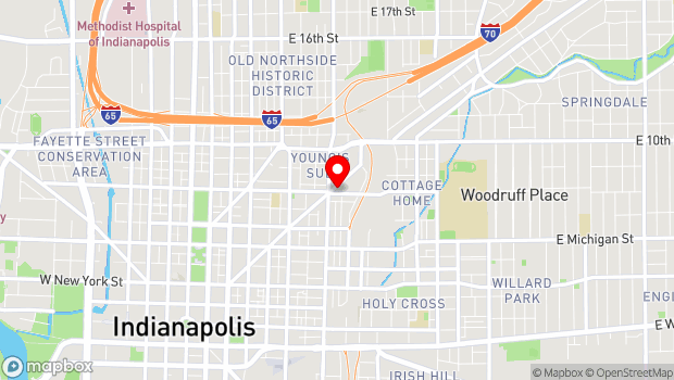 Google Map of 811 Massachusetts Avenue, Indianapolis, IN 46204