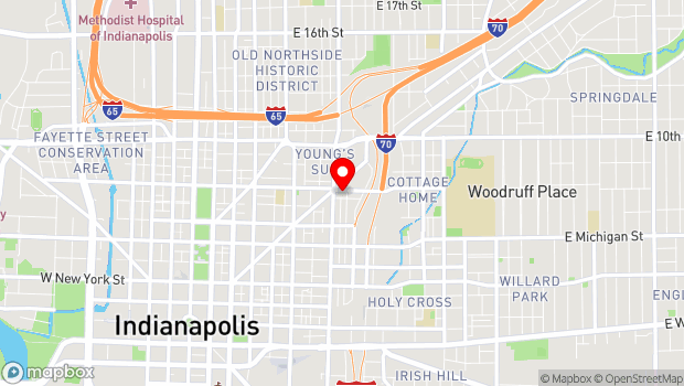 Google Map of 719 East St. Clair St., Indianapolis, IN 46202
