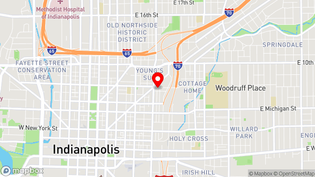 Google Map of 719 E St Clair St, Indianapolis, IN 46202
