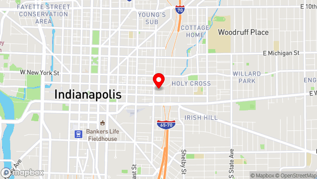 Google Map of 135 N College Ave., Indianapolis, IN 46202