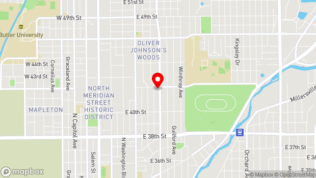 Google Map of 4180 N. College Ave., Indianapolis, IN 46205
