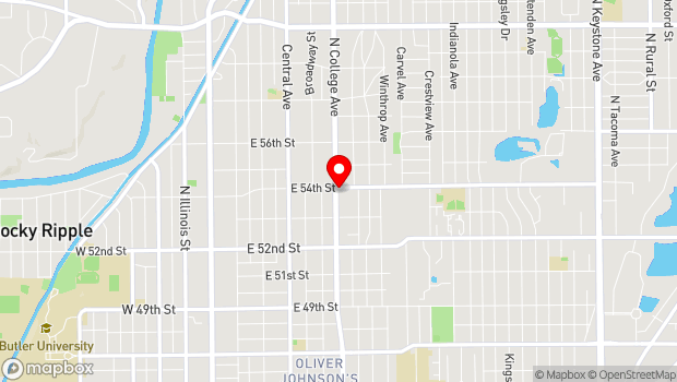 Google Map of 5377 North College Ave., Indianapolis, IN 46205