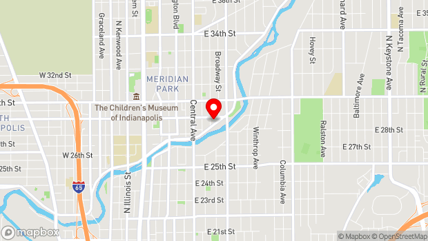 Google Map of 609 east 29th street, Indianapolis, IN 46205