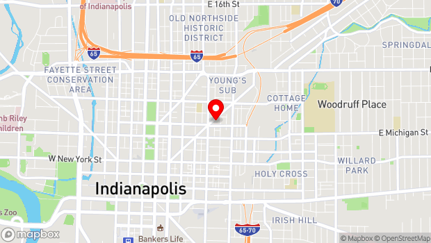 Google Map of 627 Massachusetts Avenue, Indianapolis, IN 46204
