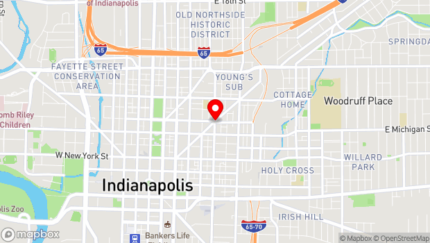 Google Map of Massachusetts Ave, Indianapolis, IN 46204